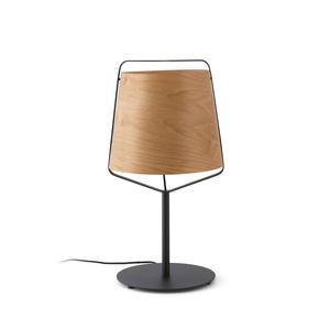 STOOD LAMPADA DA TAVOLO E27 NERO + LEGNO MAX 20W