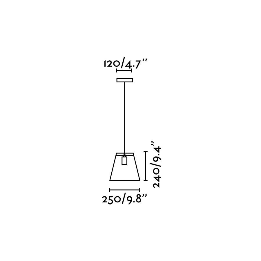 ROSE-1 LAMPADA SOSPENSIONE NERA 1 X E27 40W