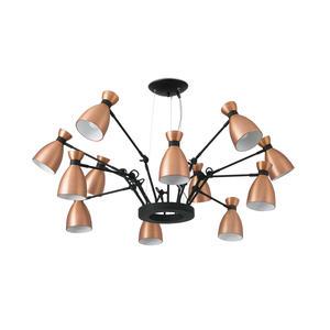 RETRO LAMPADA SOSPENSIONE RAME 12XE14 MAX 20W