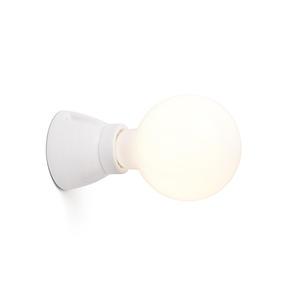KERA LAMPADA DA PARETE BIANCA 1L E27