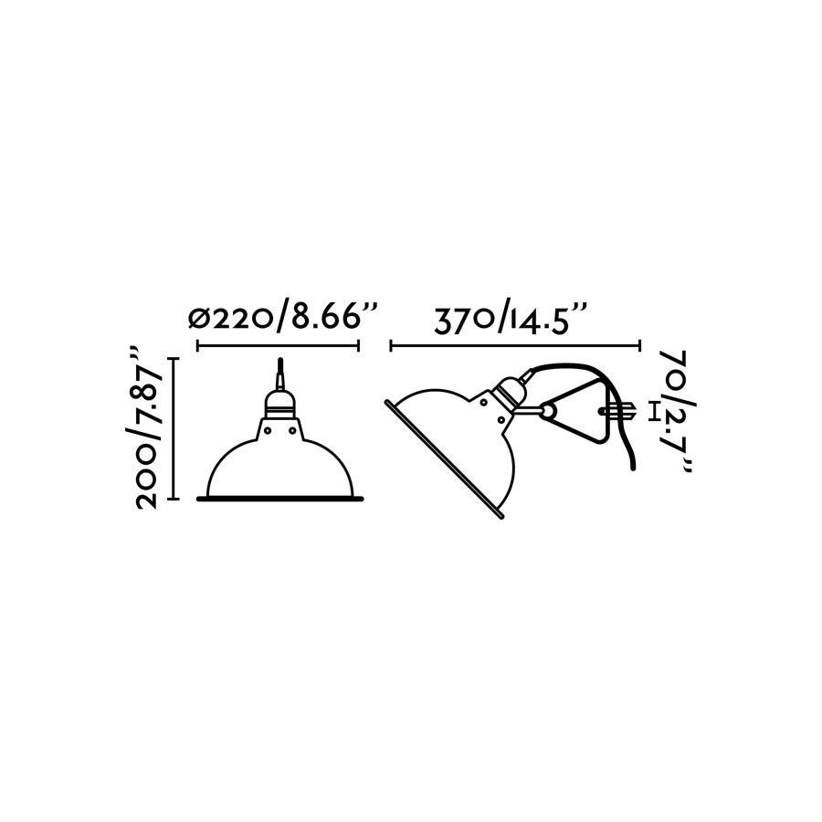 PEPPER LAMPADA CON CLIP NERO E27 40W