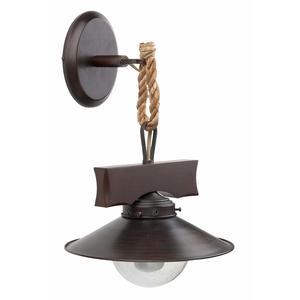 NUDOS LAMPADA DA PARETE MARRONE OSSIDO 1 X E27 60W