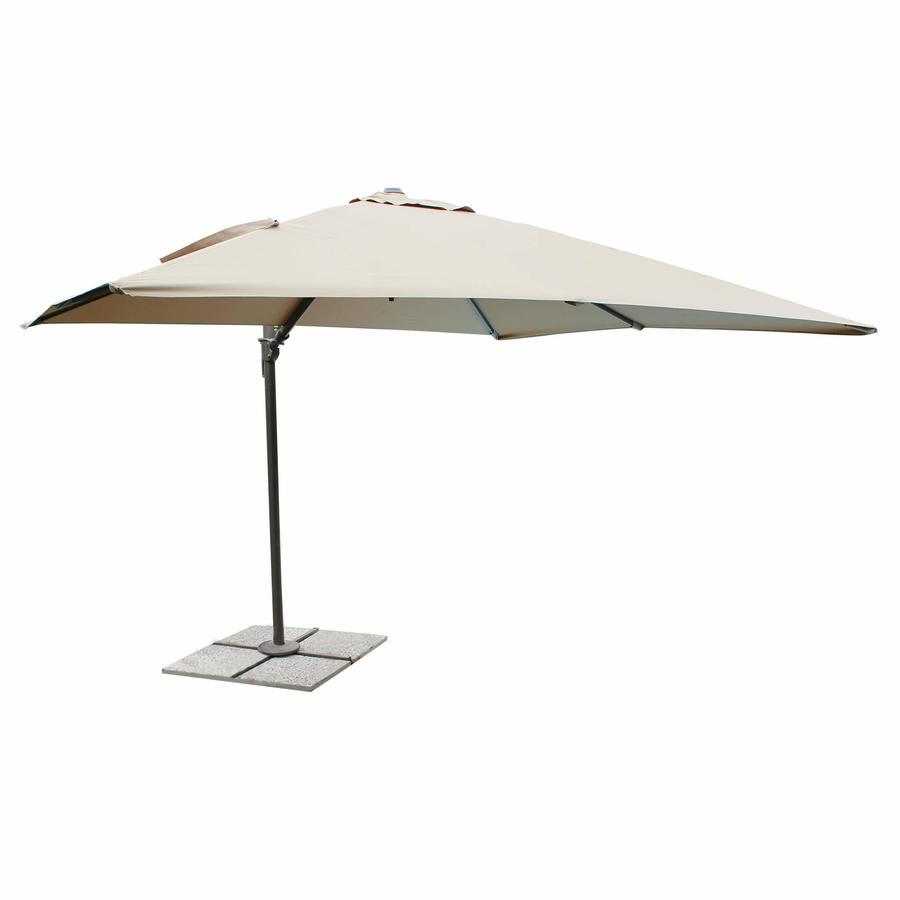 Ombrellone da giardino in alluminio MERCURIOSS misura  2 X 3 palo laterale