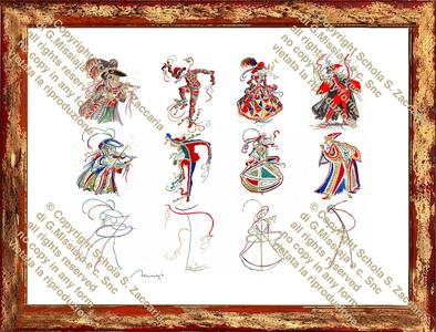 Astrazione 4 maschere veneziane