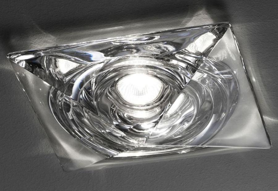 Lampada da Incasso Faretti Cheope di Fabbian con Diffusore in Cristallo Satinato o Trasparente, Diverse Versioni - Offerta di Mondo Luce 24