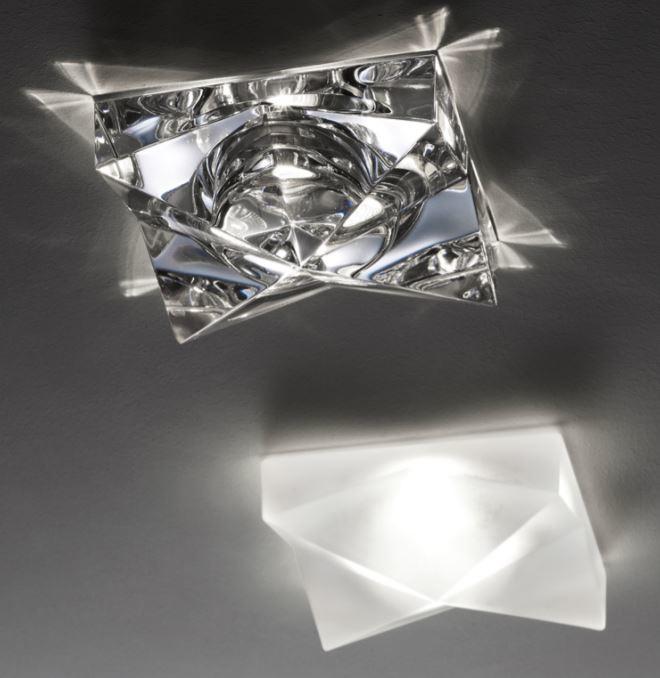 Lampada da Incasso Faretti Cindy di Fabbian con Diffusore in Cristallo Satinato o Trasparente, Diverse Versioni - Offerta di Mondo Luce 24