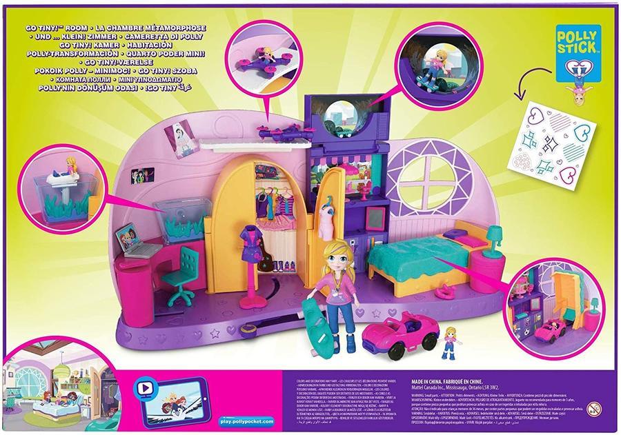 Cameretta di Polly con bambola e accessori - Mattel FRY98 - 4+ anni