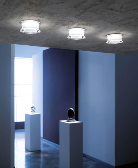 Lampada da Incasso Faretti Eli di Fabbian con Diffusore in Cristallo Satinato o Trasparente, Diverse Versioni - Offerta di Mondo Luce 24
