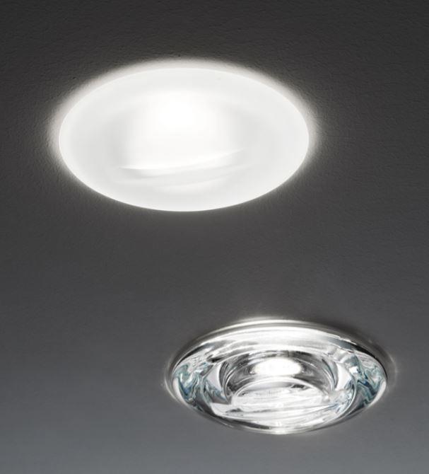 Lampada da Incasso Faretti Jnat di Fabbian con Diffusore in Cristallo Satinato o Trasparente, Diverse Versioni - Offerta di Mondo Luce 24