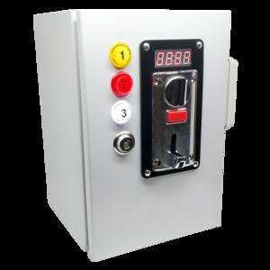 Gettoniera multimoneta per 3 porte (elettroserrature)