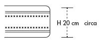 Materasso Memory Mod. Acti Memory da Cm 90x190/195/200 Antiacaro Antistress Sfoderabile Altezza Cm. 20 - ErgoRelax