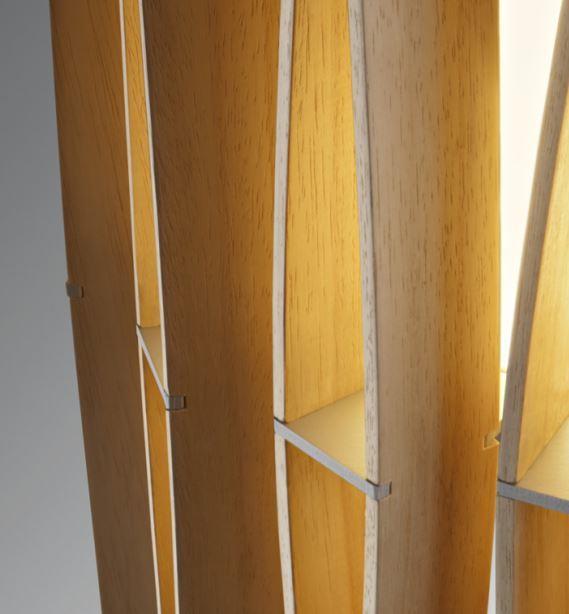 Lampada da Tavolo Stick di Fabbian con Diffusore Cilindrico in Legno Ayous e Struttura in Metallo - Offerta di Mondo Luce 24