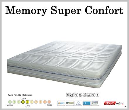 Materasso Memory Mod. Super Confort da Cm 140x190/195/200 BioActive Sfoderabile Altezza Cm. 22 - Ergorelax