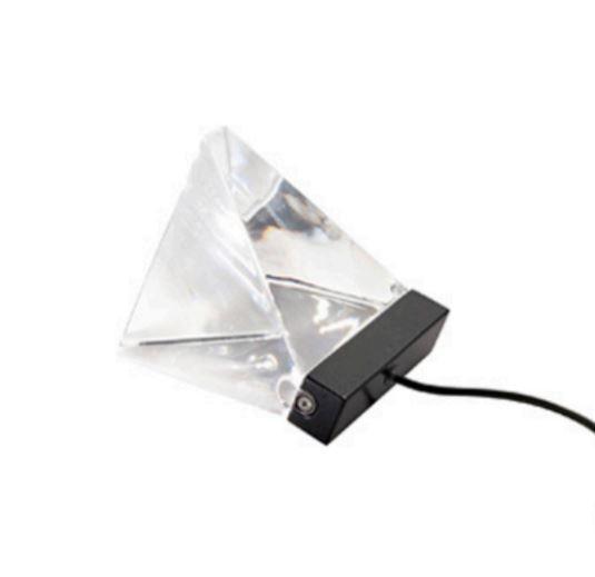 Lampada da Tavolo Tripla di Fabbian con Diffusore in Cristallo Trasparente e Struttura in Alluminio, Varie Finiture - Offerta di Mondo Luce 24