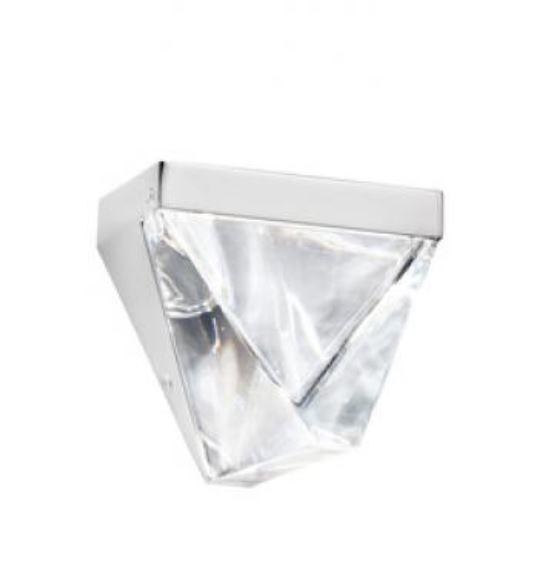 Lampada da Parete Tripla di Fabbian con Diffusore in Cristallo Trasparente e Struttura in Alluminio, Varie Finiture - Offerta di Mondo Luce 24