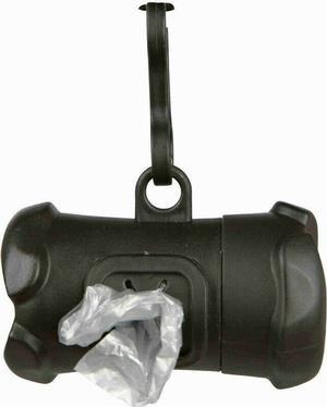 Trixie Osso Dispenser Distributore di Sacchetti Igienici Nero + Rotolo Omaggio
