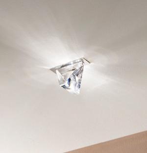 Lampada a Incasso Tripla di Fabbian con Diffusore in Cristallo Trasparente e Struttura in Alluminio, Varie Finiture - Offerta di Mondo Luce 24