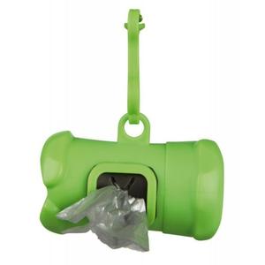 Trixie Osso Dispenser Distributore di Sacchetti Igienici Verde + Rotolo Omaggio
