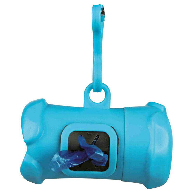 Trixie Osso Dispenser Distributore di Sacchetti Igienici Blu + Rotolo Omaggio