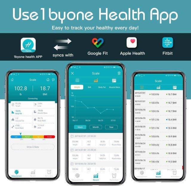 Bilancia Pesa Persona Digitale Bluetooth impedenziometrica con App per iOS e Android