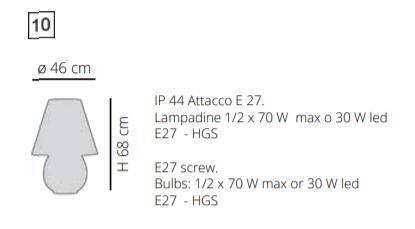Lampada per Esterno Bonbonne Mini di Emporium in Vetro Stampato e Sandylex Natural e Bianco – Offerta di Mondo Luce 24