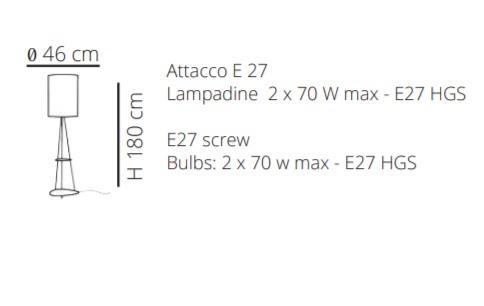 Lampada da Terra Stone di Emporium con Ripiani Portaoggetti in Metallo e Sandylex, Varie Finiture – Offerta di Mondo Luce 24