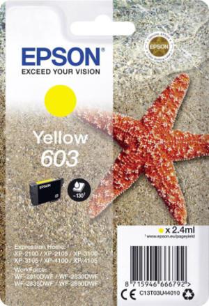 Cartuccia di inchiostro Epson Giallo serie 603 Stella Marina