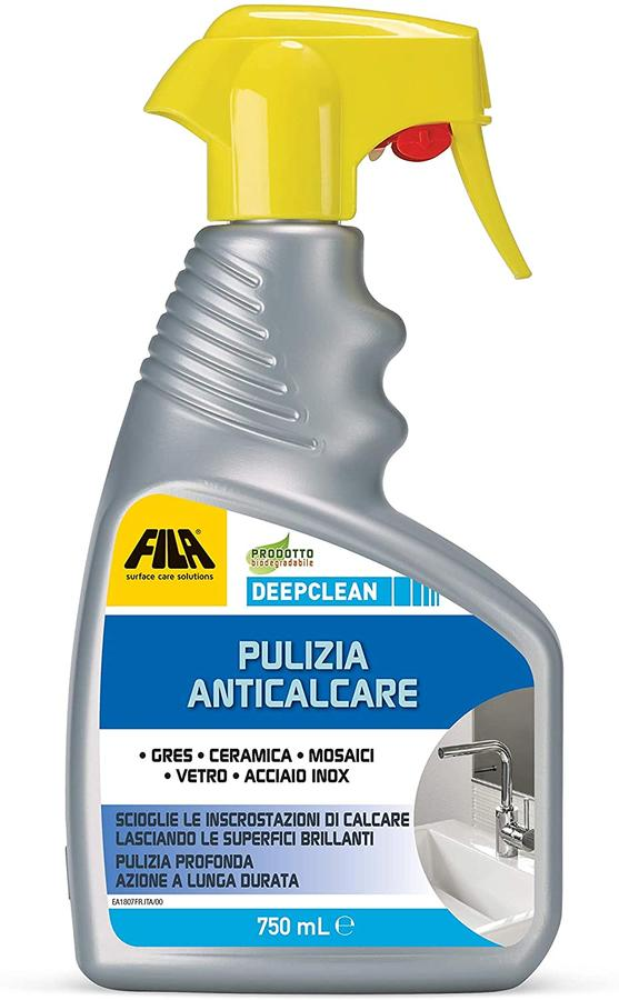 FILA Surface Care Solutions DEEPCLEAN Spray anticalcare per Il Bagno Professionale 750 ml