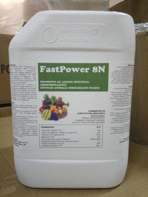 FAST POWER 8N biostimolante 20% aminoacidi liberi BIOLOGICO 25 kg.