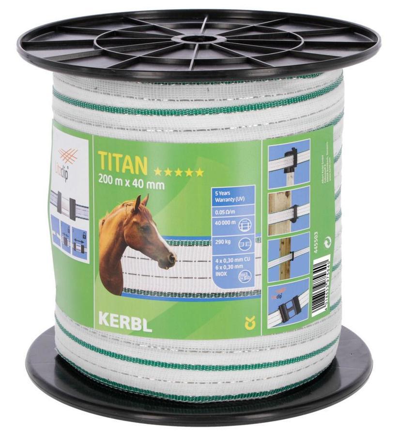 Banda KERBL TITAN da 40mm 6 conduttori da 0,30 mm acciaio + 4 da 0,30 Rame