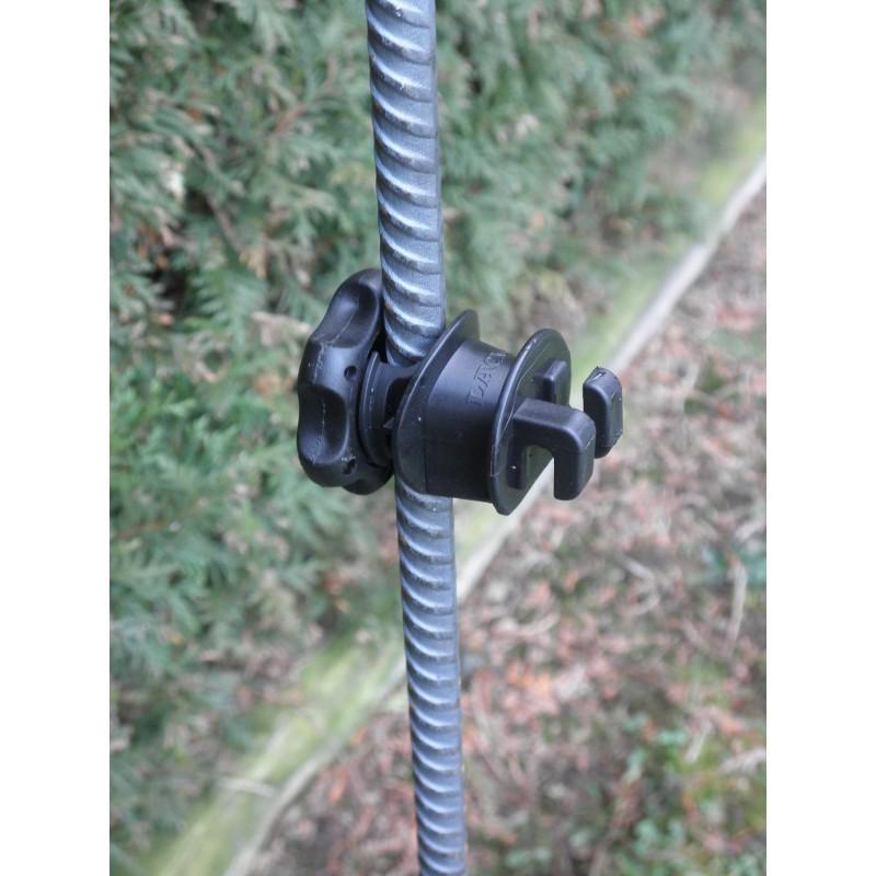 Isolatore per filo e corda tipo ISOBLOC per picchetti in ferro conf. da 25pz