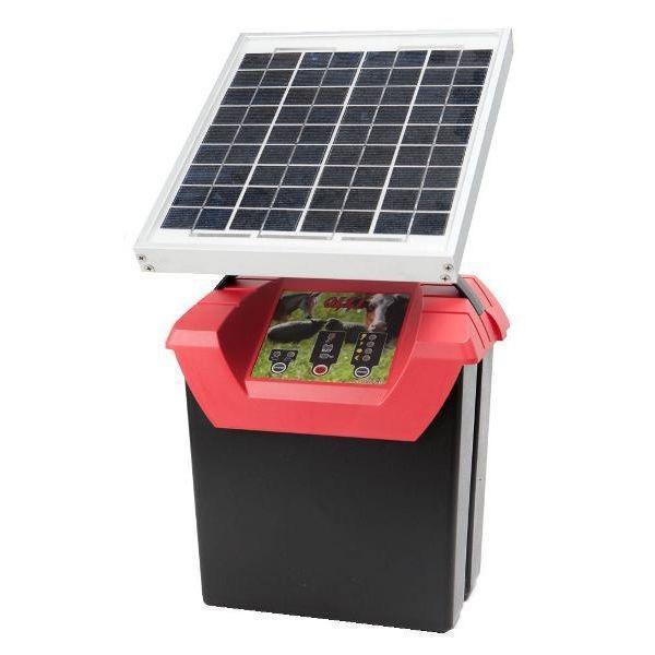 Elettrificatore OLLI 9.07BS con pannello solare 6W e batteria 12 V/12Ah