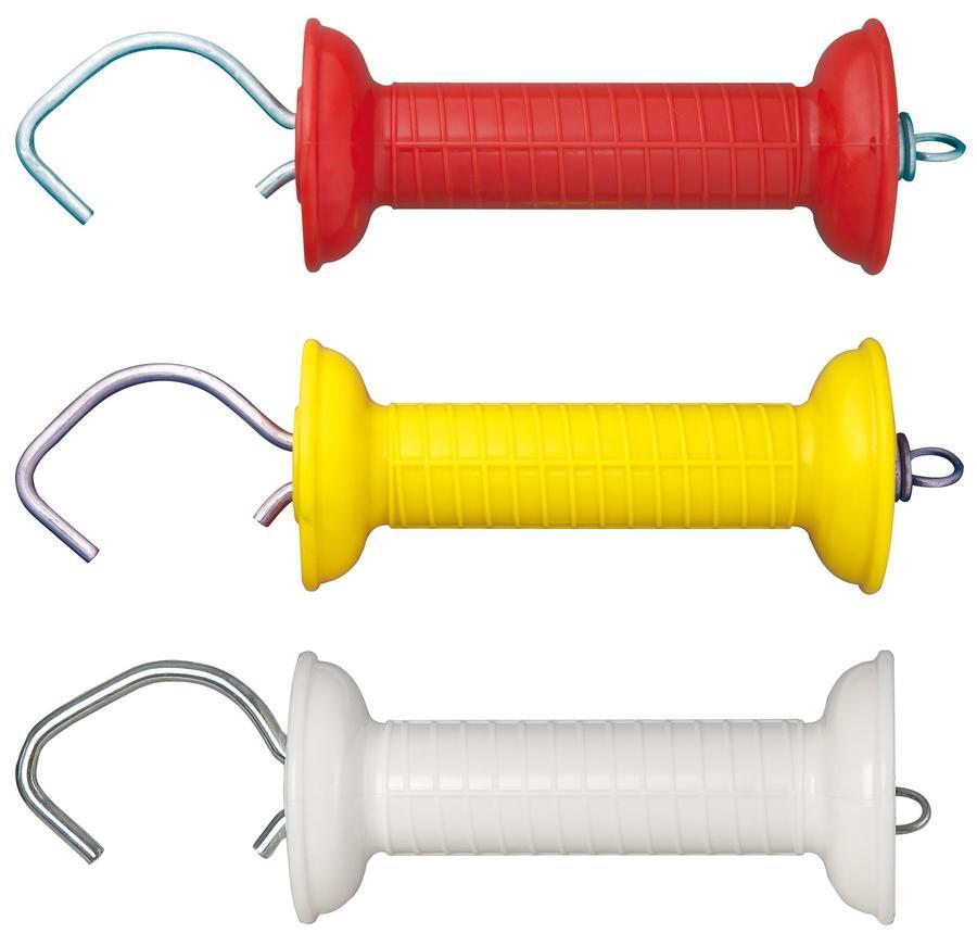 Kit 3 impugnature per cancello tricolori bianco, giallo, rosso