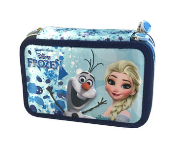 Astuccio con matite e pennarelli colorati Disney Frozen - Fancy 70962