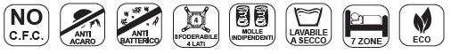 Materasso Molle Insacchettate Mod. Confort da Cm 95x190/195/200 Sfoderabile Altezza Cm. 24 - Ergorelax