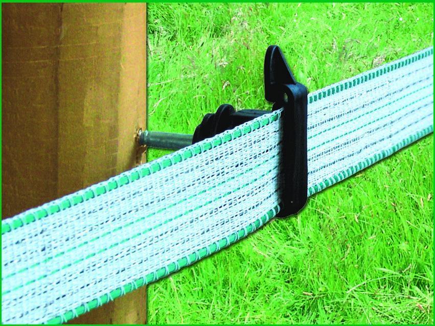 Isolatore per banda fino a mm 40, a vite per legno,  busta da 25 pezzi.