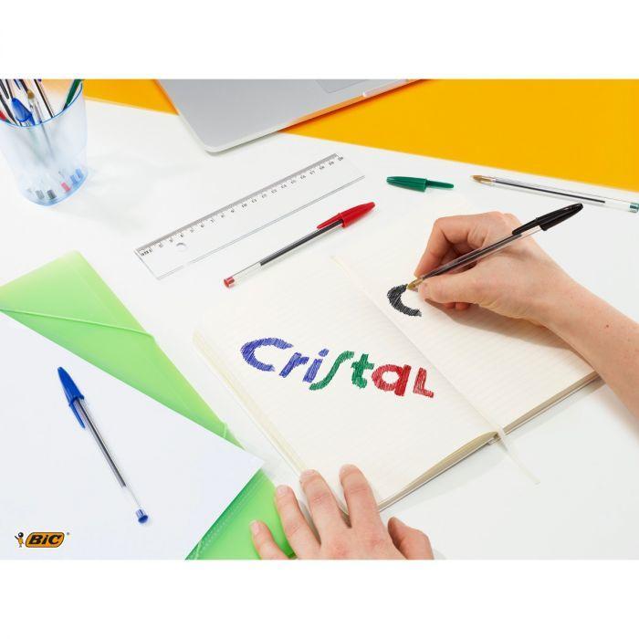 Penna a sfera BIC Cristal Original Punta media (1,0 mm) 4 pezzi colori assortiti