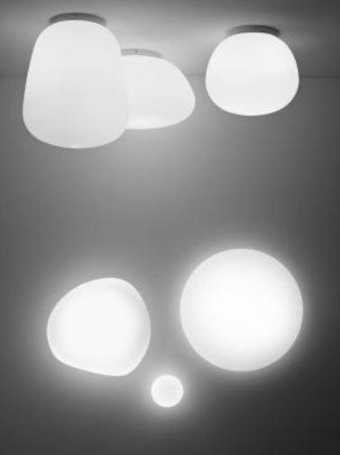 Lampada da Soffitto/Parete Lumi Sfera di Fabbian con Struttura in Metallo o Poliestere e Diffusore in Vetro Soffiato Bianco Satinato, Diverse Versioni e Misure - Offerta di Mondo Luce 24