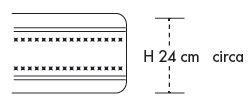 Materasso a Molle Boxate Mod. Atena da Cm 170x190/195/200 Fodera Cotone Fascia TreD Altezza Cm. 24 - Ergorelax