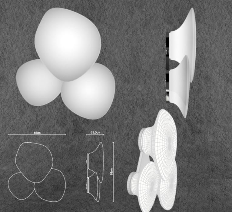 Lampada da Soffitto/Parete Lumi Mycena di Fabbian con Struttura in Metallo o Poliestere e Diffusore in Vetro Soffiato Bianco Satinato, Diverse Versioni e Misure - Offerta di Mondo Luce 24