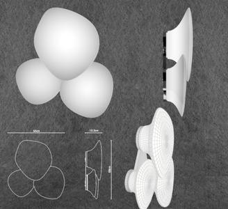 Lampada da Parete/Soffitto Lumi Mycena di Fabbian con Struttura in Metallo o Poliestere e Diffusore in Vetro Soffiato Bianco Satinato, Diverse Versioni e Misure - Offerta di Mondo Luce 24
