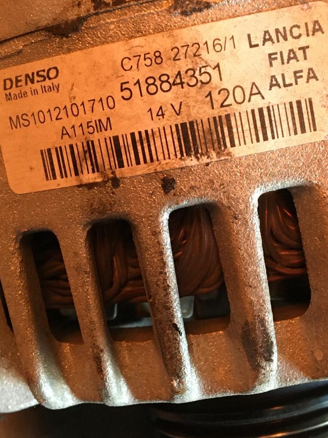 Alternatore Fiat500-Jeep 1600TD - 51884351