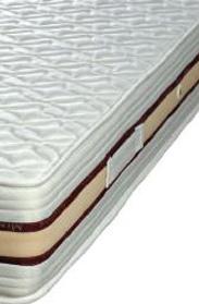 Materasso a Molle Boxate Mod. Atena Matrimoniale da Cm 160x190/195/200 Fodera Cotone Fascia TreD Altezza Cm. 24 - Ergorelax