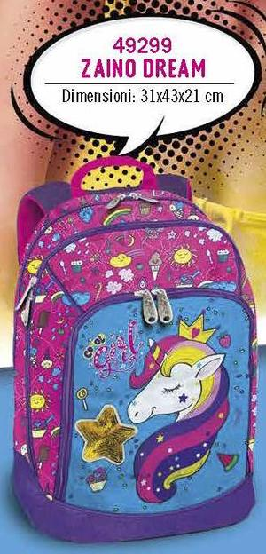 Copia di ZAINO DREAM UNICORNO ORIGINAL 2 VAR