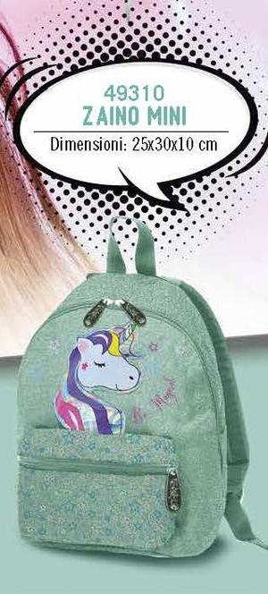 ZAINO MINI UNICORNO GLITTER TIFFANY