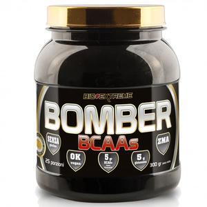 BOMBER bcaa 300 g - Aminoacidi ramificati 2:1:1 con Glutamina AKG 2.1, ZMA e vitamina B6 - gusto Arancia