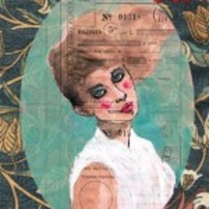 Francesca Mariani, Stampa A4 firmata: Guardo i tuoi Occhi Antichi che hanno amato il Fuoco (Seimila Anni)