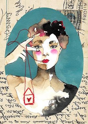Francesca Mariani, Stampa A4 firmata: Quella Volta in cui la punta del Cuore ti sale in Gola ti mette un po' di Rosso nella Voce