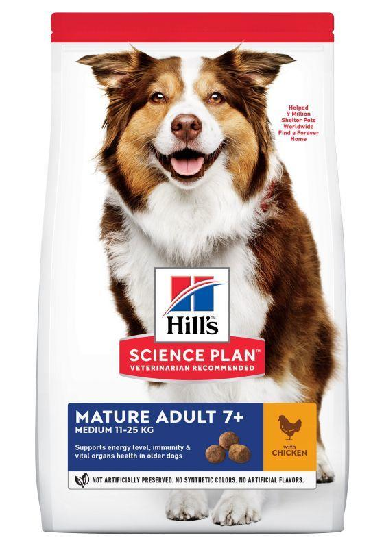Hill's Science Plan Mature Adult 7+ Medium Pollo 800g Crocchette Per Cani Anziani