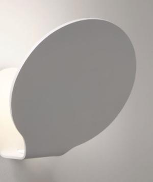Lampada a Parete Glu di Fabbian con Struttura in Alluminio Verniciato Bianco Opaco - Offerta di Mondo Luce 24